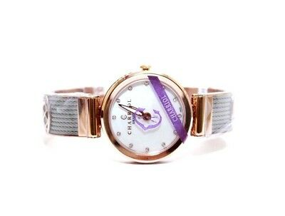 Charriol Women's Forever Mother of Pearl Rose Gold Stainless Steel Watch $1040