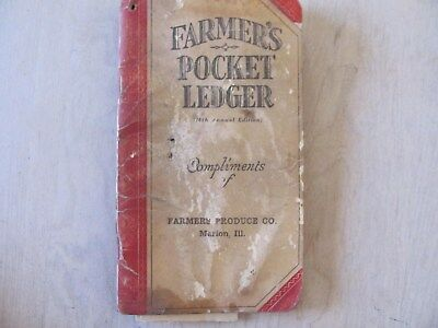 "1943 John Deere ""Farmer's Pocket Ledger"" Marion Illinois Farmers Produce Co"