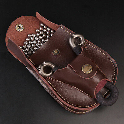 HOT Leather Case Waist Bag Pouch for Catapult Slingshot Steel Balls Ammo RUÁÁ