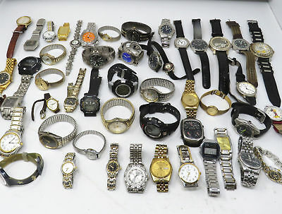 2 large lot of vintage and modern Men and Women watches