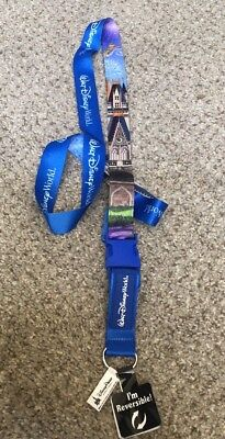 Disney Parks Walt Disney World Tinker Bell Castle Pin Lanyard  Reversible NEW
