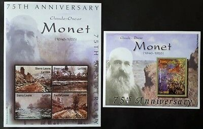 Sierra Leone 2001** Mi. 4025-29 Art-Claude Monet [23,20]