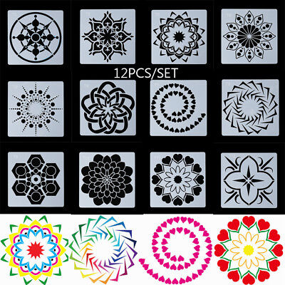 Stamp Mandala Auxiliary Layering Stencils Painting template Scrapbooking