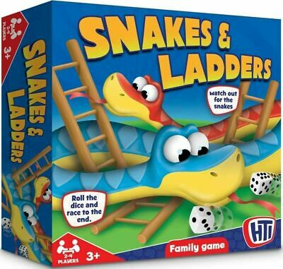 Snakes And Ladders Board Game Fun Kids Play Traditional Children & Family Game