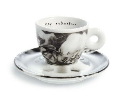 Illy Art Collection 1999 Bus Stops Darryl Pottorf 6 Espresso Cups Signed in Box