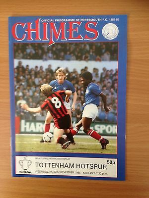 Portsmouth V Tottenham Milk Cup Fourth Round Replay 1985