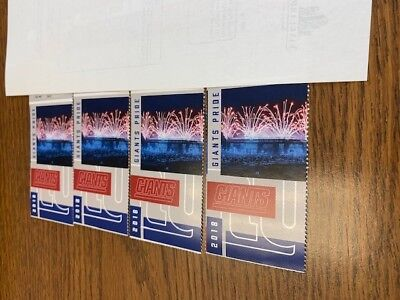Giants Vs Cowboys - December 30, 2018 1Pm  - 4 Tix Plus Parking Pass