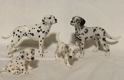 Schleich Dogs DALMATION FAMILY Male & 2 PUPPIES + Safari Ltd Adult Dog Figures
