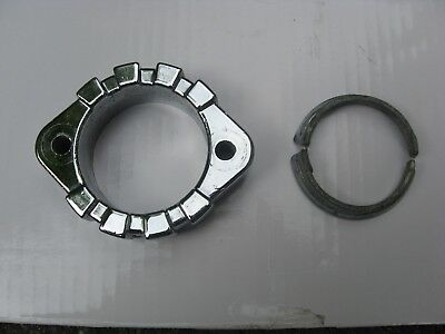 1984 1985 Yamaha  Exhaust Header Clamp Collar Flange Ring and Shim