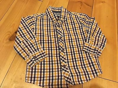 boys Baby next long sleeved shirt 12-18 months Checked Vgc