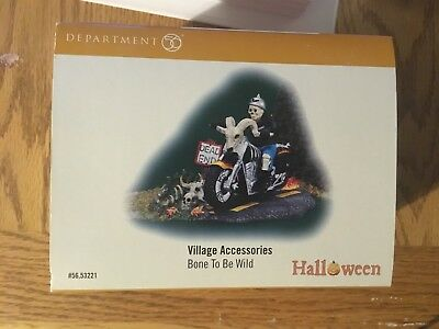 Dept 56-Snow Village  Halloween collection- Bone to be Wild