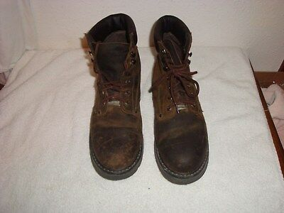 """Mens~Ad Tec~Leather Steel Toe 6"""" Work Boot~Size 12~Slip/Oil Resistant~Good Cond."""
