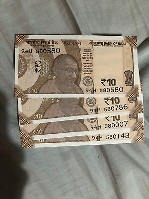 INDIAN CURRENCY NEW 200 Rupee Notes - 3 Notes With Serial