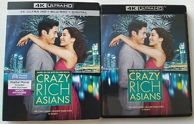 Crazy Rich Asians 4K Ultra Hd Blu Ray 2 Disc Set + Slipcover Sleeve Free Shippin