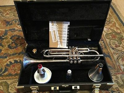 Yamaha Allegro YTR5335G Step-Up/Intermediate Trumpet + Mutes Bundle Excellent