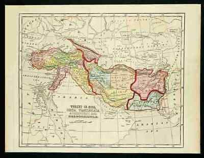 MIDDLE EAST - OTTOMAN EMPIRE & PERSIA – Scarce 1856 HandColor Map, Charles Morse