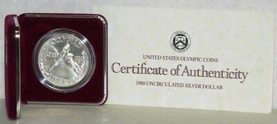 1988-D United States Olympic Coins. Silver Uncirculated Dollar.