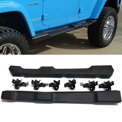 For 07-17 Jeep Wrangler Unlimited OE Texture Running Board Side Steps Nerf Bars