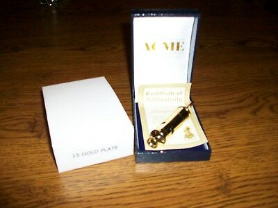 Acme Metropolitan Gold Plated Whistle..New In Display Box...Bobby..