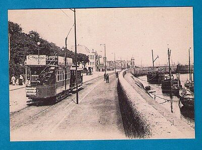 Repro 1900s Tram Postcard ~ View of St Peter Port - Camera Centre Guernsey, CI