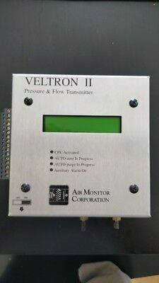LOT OF 2 - Veltron II Pressure and Flow Transmitter Air Monitor Corporation