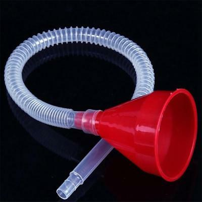 Motorcycle Truck Fuel Tank Pour Oil Tool Petrol Plastic Filling Funnel Soft Pipe