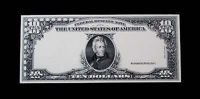 Engraving Specimen  USA 1923 $10 Paper Money  Gem Unc