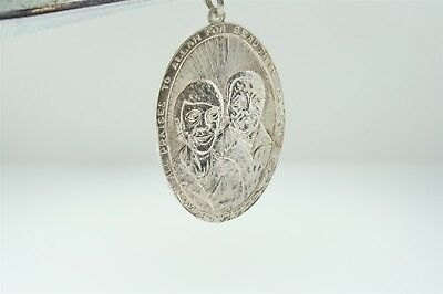 """Vintage Islamic Charm Amulet Pendant Sterling Silver """"All Praises to Allah"""""""