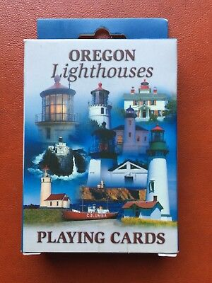 Playing Cards Oregon Lighthouses Yaquina Head Cape Argo Lightship Columbia