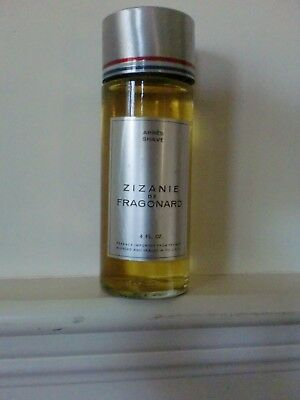 Vintage Zizanie de Fragonard After Shave 4 oz Full Never Used No Box Rare