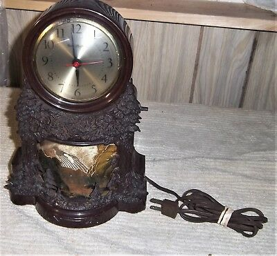Vintage Mastercrafters Waterfall Animated  Clock Works -Clock Working