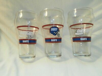 coca cola glasses Giants (NFL)