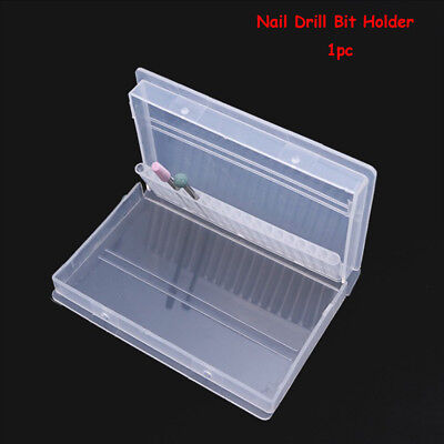 20 Holes Storage box Nail Drill Bit Holder Container Manicure Tool Organizer
