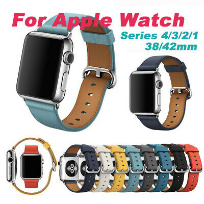 Genuine Leather Wrist Strap Apple Watch Band 38mm 42mm for iWatch Series 4/3/2/1