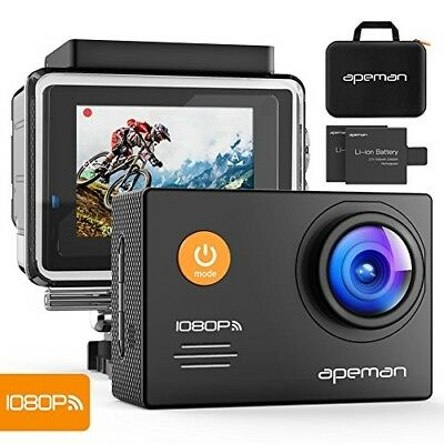 APEMAN Action Camera WiFi 14MP 1080P FHD Sports Camera with 2.0 Inch LCD Display