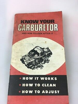 Motor Cards - Vehicles - Know Your Carburetor Booklet - Crc Sth Australia