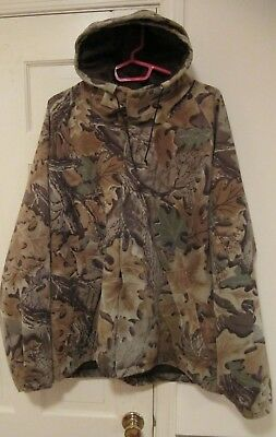 f9a1de79dabfc CABELAS Dry Plus Advantage Jacket Men's Size XL Hooded Camo Full Zipper ...