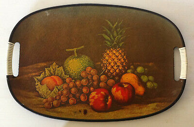 Vintage Drinks Serving Tray Circa Early 1970s Fruit Design