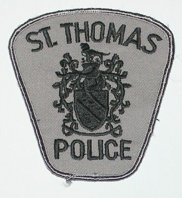 ST THOMAS POLICE Canadian PD Subdued patch Canada