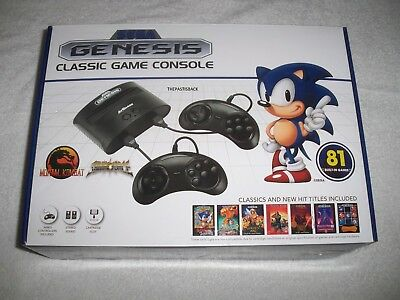 Sega Genesis Classic Game Console Retro 80+ Built In Games & Cartridge Slot New!
