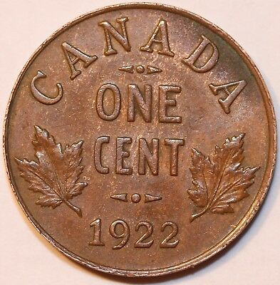 1922 Canada 1 Cent Foreign Coin     #0036