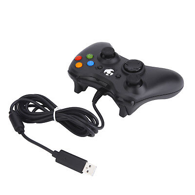 Black Wired USB Cable Controller for  Xbox 360 Console & PC