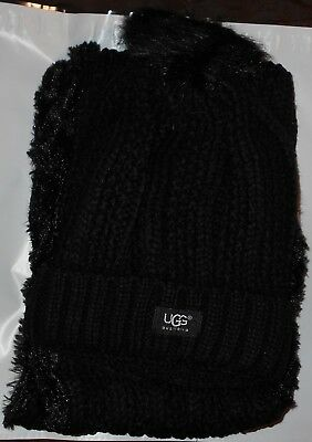 ee95ccd908699 UGG WOMENS WINTER hat   infinity scarf set - black - new -  14.99 ...