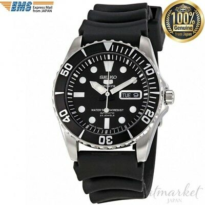 SEIKO 5 SNZF17J2 Watch sports Black Band Men's in Box genuine from JAPAN NEW