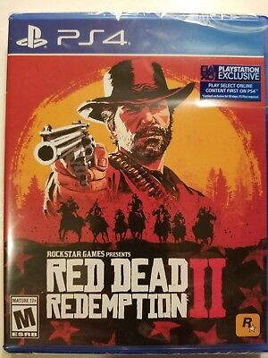 Red Dead Redemption 2 (Sony PlayStation PS4) Brand New/Sealed