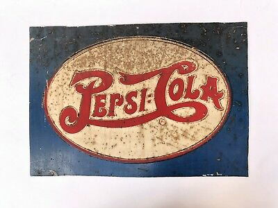 Old PEPSI:COLA double dot Embossed Metal Sign/Plate