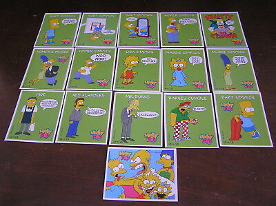 simpsons lucky dip mars 1997 full sticker set tazo picker card cards couch