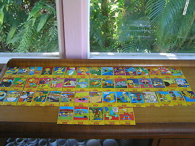 50 simpsons berri juice full sticker card set tazo picker cards couch