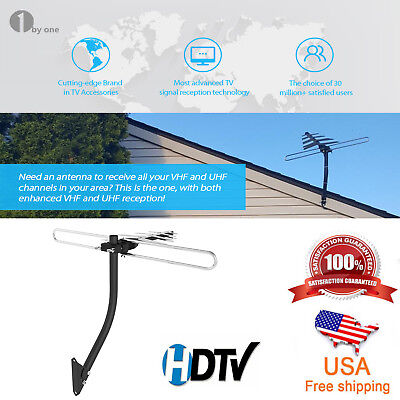 1Byone 200 Miles Outdoor TV Antenna Amplified Digital Signal 1080P Full HDTV