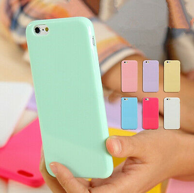 US Ultra Thin Candy TPU Silicone Rubber Soft Case Cover For iPhone 7 Plus 5S 6S